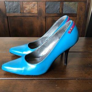 Electric Blue No Boundaries Stiletto Heels